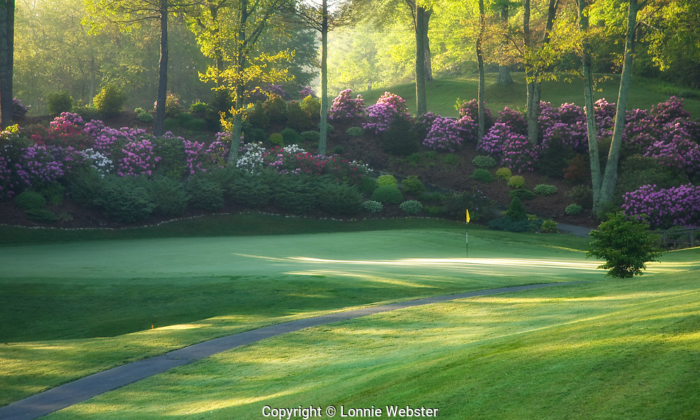 Boone Golf Club in the spring in Boone NC