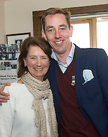 23/08/2015 REPRO FREE  Mary Hearne Galway City  with Ryan Tubridy  at Connemara Golf Club in Ballyconneely Co Galway  where he received honorary Life Membership from the Club .<br /> Photo:Andrew Downes, xposure.