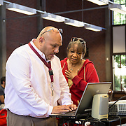 Chris Torres; Student Affairs Coordinator & Victoria Henderson; Faculty Coordinator for the Center