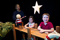 19/07/2017 Repro Free:  Sean and Laoise Colleran from Craughwell got to The Bot star of How to Catch a Star which runs   during the 40th Galway International Arts Festival in the O Dionoghue Theatre NUI,Galway. (Puppeteer)Neasa Ní ChuanaighPhoto:Andrew Downes, xposure .