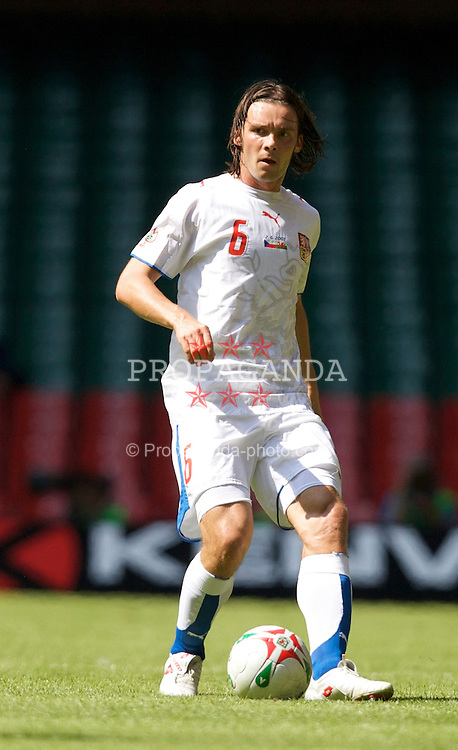 Cardiff, Wales - Saturday, June 2, 2007: Czech Republic's Marek Jankulovski in action against Wales during the UEFA Euro 2008 Qualifying Group D match at the Millennium Stadium. (Pic by David Rawcliffe/Propaganda)