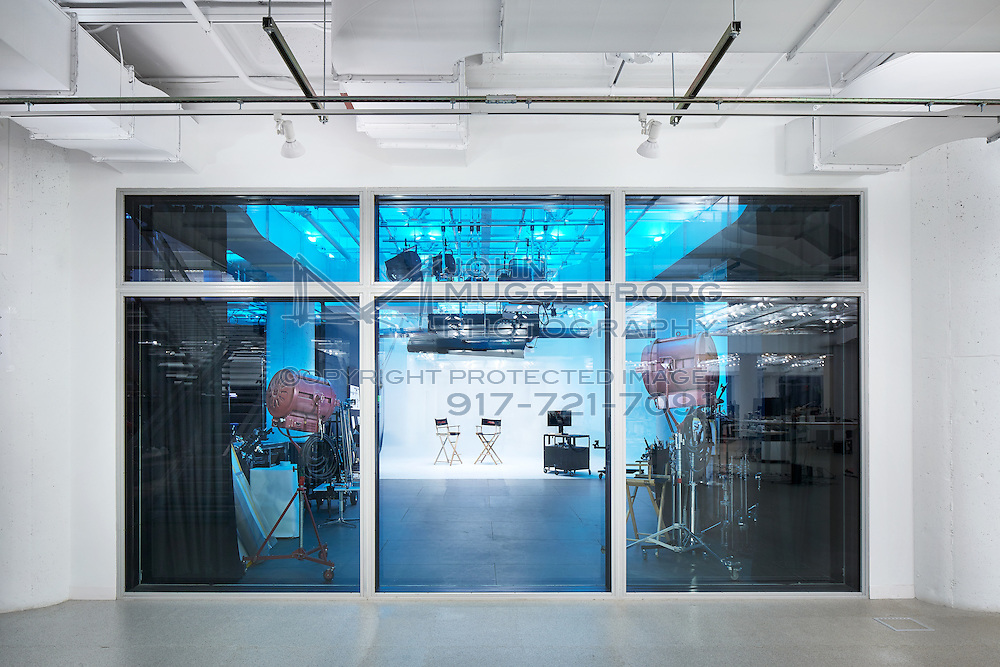 R/GA office headquarters in NYC.<br /> Office Space designed by Foster + Partners with lighting by Tillotson Design. Photographed by John Muggenborg.