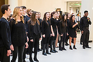 "Town of Wallkill, New York -   Port Jervis High School students sing a song from ""Into the Woods"" during the Orange County Arts Council's All-County High School Musical Showcase and Arts Display at the Galleria at Crystal Run on Feb. 27, 2016."
