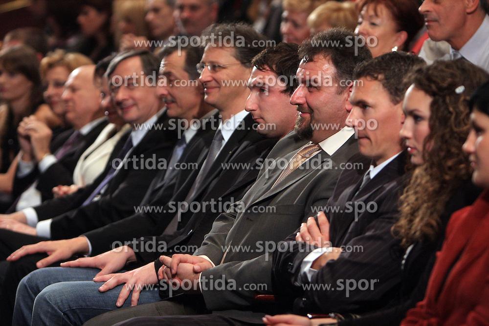 Danilo Turk, Miha Zibrat, Igor Luksic, Primoz Kozmus, Vladimir Kevo and Vasilij Zbogar  at Slovenian sportsman of the year 2008 ceremony, on December 22, 2008, in Cankarjev dom, Ljubljana, Slovenia. (Photo by Vid Ponikvar / SportIda).