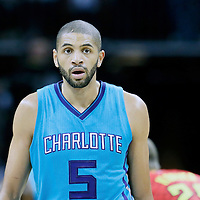 01 November 2015: Charlotte Hornets forward Nicolas Batum (5) is seen during the Atlanta Hawks 94-92 victory over the Charlotte Hornets, at the Time Warner Cable Arena, in Charlotte, North Carolina, USA.