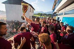 NK Triglav Kranj celebrates championship title of 2. SNL, on May 26th in SRC Kranj, Kranj, Slovenia. Photo by Ziga Zupan / Sportida