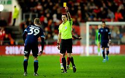 Lewis O'Brien of Huddersfield Town is shown a yellow card - Mandatory by-line: Nizaam Jones/JMP - 30/11/2019 - FOOTBALL - Ashton Gate - Bristol, England - Bristol City v Huddersfield Town - Sky Bet Championship