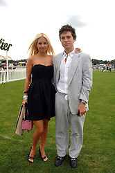 MARISSA MONTGOMERY and her brother MAX MONTGOMERY at the Cartier International polo at Guards Polo Club, Windsor Great Park on 29th July 2007.<br />