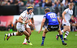 Ted Hill of Worcester Warriors - Mandatory by-line: Alex James/JMP - 28/09/2019 - RUGBY - Recreation Ground - Bath, England - Bath Rugby v Worcester Warriors - Premiership Rugby Cup