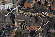 aerial photograph of Queen Rd , Reading Berkshire  England UK