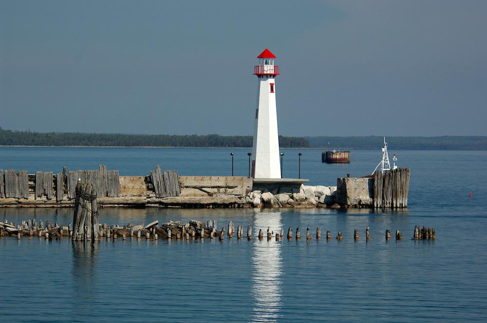 Lighthouse at Lake Huron, St. Ignace, Michigan, USA