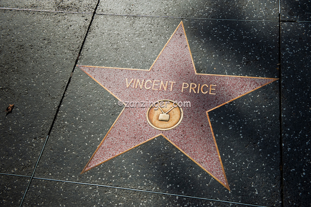 Vincent Price, Hollywood, Boulevard, Star, Walk of Fame, Hollywood, Ca,