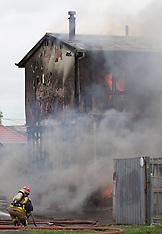 Auckland-House fire in McGehan Close, Mt Albert