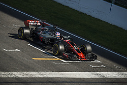 March 10, 2017 - Montmelo, Catalonia, Spain - ROMAIN GROSJEAN (FRA) of team Haas practices the start on track during day 8 of Formula One testing at Circuit de Catalunya (Credit Image: © Matthias Oesterle via ZUMA Wire)