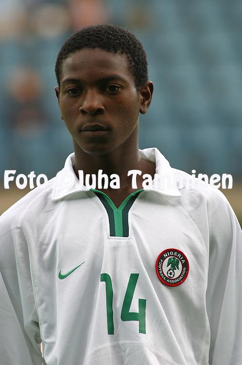 13.08.2003, Kupittaa Stadium, Turku, Finland.FIFA U-17 World Championship - Finland 2003.Match 4: Group B - Costa Rica v Nigeria.Kolawole Anubi - Nigeria.©Juha Tamminen