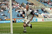 Photo: Rich Eaton.<br /> <br /> Coventry City v Preston North End. Coca Cola Championship. 14/04/2007. Brett Ormerod lcelebrates scoring Prestons 4th goal