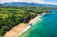 SECRET BEACH, KAUAPEA, ANINI , AERIALS, KAUAI, HOMEAWAY, VRBO, VACATION RENTAL, PRINCEVILLE, HANALEI