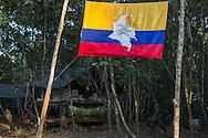 El Diamante, Meta, Colombia - 15.09.2016        <br /> <br /> Guerilla camp during the 10th conference of the marxist FARC-EP in El Diamante, a Guerilla controlled area in the Colombian district Meta. Few days ahead of the peace contract passing after 52 years of war with the Colombian Governement wants the FARC decide on the 7-days long conferce their transformation into a unarmed political organization. <br /> <br /> Guerilla-Camps zur zehnten Konferenz der marxistischen FARC-EP in El Diamante, einem von der Guerilla kontrollierten Gebiet im kolumbianischen Region Meta. Wenige Tage vor der geplanten Verabschiedung eines Friedensvertrags nach 52 Jahren Krieg mit der kolumbianischen Regierung will die FARC auf ihrer sieben taegigen Konferenz die Umwandlung in eine unbewaffneten politischen Organisation beschlie&szlig;en. <br />  <br /> Photo: Bjoern Kietzmann