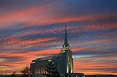 LDS Temple Sunset