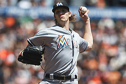 SAN FRANCISCO, CA - APRIL 24: Adam Conley #61 of the Miami Marlins pitches against the San Francisco Giants during the first inning at AT&T Park on April 24, 2016 in San Francisco, California.  (Photo by Jason O. Watson/Getty Images) *** Local Caption *** Adam Conley