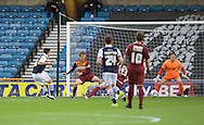 Lee Gregory of Millwall scores the opening goal to make it 4-1 on aggregate during the Sky Bet League 1 Playoff Semi-final Leg Two at The Den, London<br /> Picture by Alan Stanford/Focus Images Ltd +44 7915 056117<br /> 20/05/2016