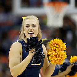 April 7, 2013; New Orleans, LA, USA; California Golden Bears cheerleaders perform against the Louisville Cardinals during the first half in the semifinals during the 2013 NCAA womens Final Four at the New Orleans Arena. Mandatory Credit: Derick E. Hingle-USA TODAY Sports