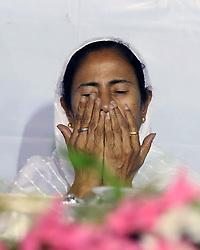 June 12, 2017 - Kolkata, West Bengal, India - West Bengal Chief Minister Mamata Banerjee attend an Iftar party organized at Park circus. (Credit Image: © Saikat Paul/Pacific Press via ZUMA Wire)