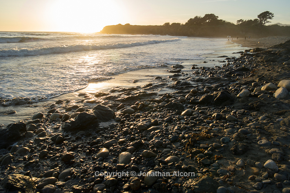 Beach scene near Cambria, California  on the Central California coast