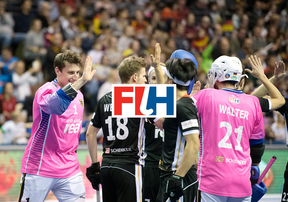 BERLIN - Indoor Hockey World Cup<br /> SF1 Germany - Iran<br /> foto: Line Up <br /> WORLDSPORTPICS COPYRIGHT FRANK UIJLENBROEK