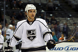 Nov 7, 2011; San Jose, CA, USA; Los Angeles Kings defenseman Alec Martinez (27) warms up before the game against the San Jose Sharks at HP Pavilion.  San Jose defeated Los Angeles 4-2. Mandatory Credit: Jason O. Watson-US PRESSWIRE