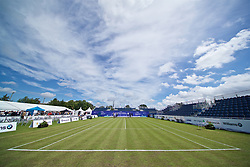 LIVERPOOL, ENGLAND - Thursday, June 20, 2019: Final preparations are made before the opening day of the Liverpool International Tennis Tournament 2019 at the Liverpool Cricket Club. (Pic by David Rawcliffe/Propaganda)