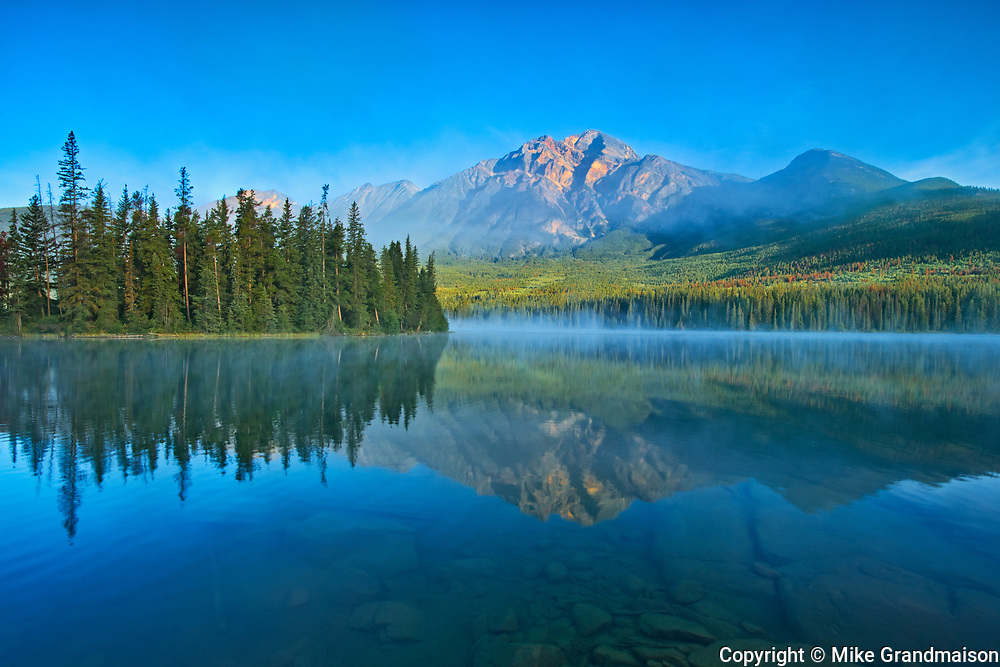 Pyramid Mountain and Pyramid Lake <br />
