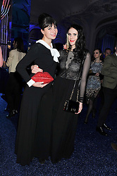 Left to right, GIZZI ERSKINE and KATE NASH at the Warner Music Group Post Brit Awards Party in Association with Samsung held at The Savoy, London on 20th February 2013.