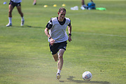 Forest Green Rovers strength and conditioning coach Tom Huelin during the Forest Green Rovers Training session at Browns Sport and Leisure Club, Vilamoura, Portugal on 25 July 2017. Photo by Shane Healey.