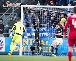 Ayr United's Gary Harkins goal. Falkirk 1 v 1 Ayr United, Scottish Championship game played 14/1/2017at The Falkirk Stadium .