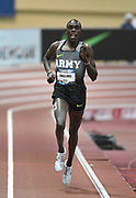 Mar 4, 2017; Albuquerque, NM, USA: Paul Chelimo wins the two miles in 8:28.53 during the USA Indoor Championships at Albuquerque Convention Center.