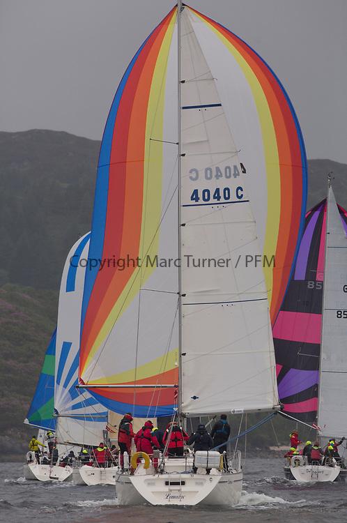 Silvers Marine Scottish Series 2017<br /> Tarbert Loch Fyne - Sailing<br /> <br /> 4040C, Lemarac, Mr. A. Boyd Tunnock, Clyde Cruising Club, Moody 38<br /> <br /> Credit: Marc Turner / CCC