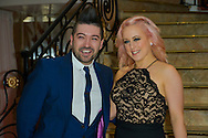 """Chris Marques and Jaclyn Spencer during Prices """"The Best"""" of Massimo Gargia in Salons Hoche in Paris. Paris, 10th december 2015, France"""