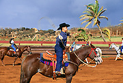 Hawaiian rodeo, Paniolos, Kauai, Hawaii..