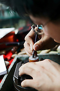 Making wax seals in Old Shanghai, China
