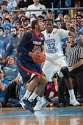 07 February 2009: Virginia Cavaliers forward Mike Scott (32) during a 76-61 loss to the North Carolina Tar Heels at the Dean Smith Center in Chapel Hill, NC.