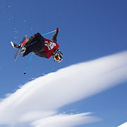 Anais Caradeux, France,  in action in the Women's Halfpipe Finals during The North Face Freeski Open at Snow Park, Wanaka, New Zealand, 3rd September 2011. Photo Tim Clayton...