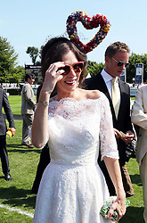 Anna Friel at  Ladies Day at Glorious Goodwood in the UK  Thursday, 1st August 2013<br /> Picture by Stephen Lock / i-Images