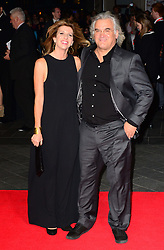 Joanna Greengrass with Paul Greengrass arriving for the premiere of new film Captain Phillips on the opening night of the London Film Festival, Wednesday, 9th October 2013. Picture by Nils Jorgensen / i-Images
