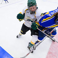 2nd year forward Jaycee Magwood (5) of the Regina Cougars in action during the Women's Hockey Home Game on October 15 at Co-operators arena. Credit: Arthur Ward/Arthur Images
