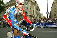 Sykkel<br /> Tour de France 2003<br /> Prolog Paris 05.07.2003<br /> David Millar - GBR - Cofidis<br /> Foto: Digitalsport<br /> <br />  *** Local Caption *** 20001150