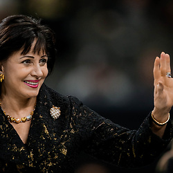 Nov 18, 2018; New Orleans, LA, USA; New Orleans Saints owner Gayle Benson prior to kickoff against the Philadelphia Eagles at the Mercedes-Benz Superdome. Mandatory Credit: Derick E. Hingle-USA TODAY Sports