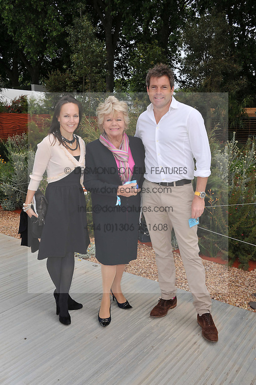JUDITH CHALMERS with her son MARK DURDEN-SMITH and his wife RACHEL at the 2011 RHS Chelsea Flower Show VIP & Press Day at the Royal Hospital Chelsea, London, on 23rd May 2011.