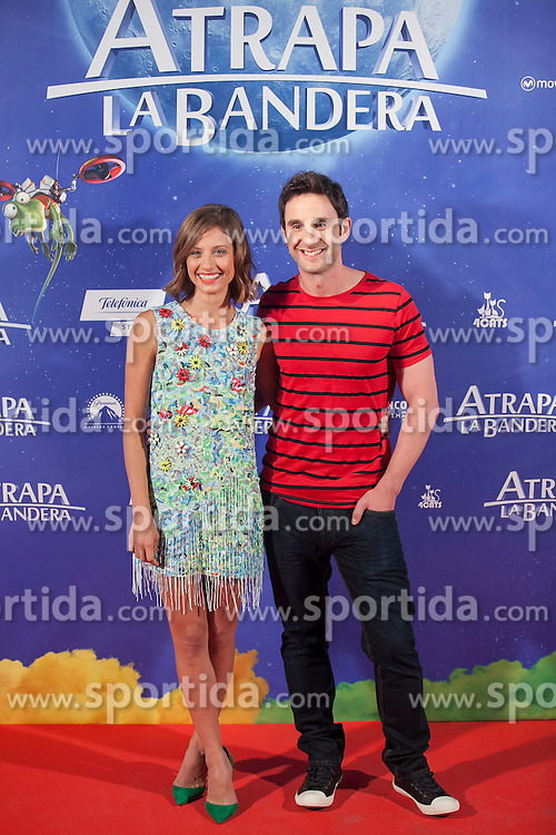 26.08.2015, Kinepolis Cinema, Madrid, ESP, Atrapa la Bandera, Premiere, im Bild Actress Michelle Jenner and actor Dani Rovira pose // during the premiere of spanish cartoon 'Capture The Flag&quot; at the Kinepolis Cinema in Madrid, Spain on 2015/08/26. EXPA Pictures &copy; 2015, PhotoCredit: EXPA/ Alterphotos/ Victor Blanco<br /> <br /> *****ATTENTION - OUT of ESP, SUI*****