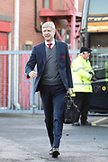 Arsenal manager Arsene Wenger arrives at the City Ground during the The FA Cup 3rd round match between Nottingham Forest and Arsenal at the City Ground, Nottingham, England on 7 January 2018. Photo by Jon Hobley.